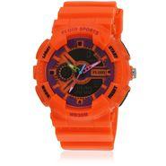 Fluid Analog & Digital Round Dial Watch For Unisex_d04or01 - Orange