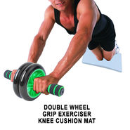Double Wheel Grip Exerciser With Knee Cushion Mat