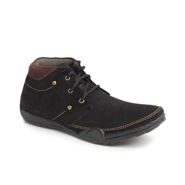 Foot n Style Suede leather Boots  FS131 - Black