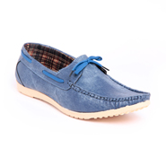 Foot n Style Italian leather Loafers  FS271 - Blue