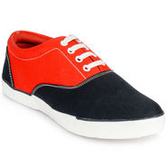 Foot n Style Canvas Black & Red Casual Shoes -fs3026