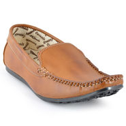 Foot n Style Cordovan Leather Loafer Shoes FS 354 -Tan