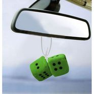Dice Hanging Car Air Freshener-Green- Pack of 2
