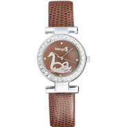 Mango People Analog Round Dial Watch For Women_mp002br02 - Brown