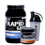 Gxn Advance Rapid Gain, 2 Lb ( 907Grms ) Butter Scotch + Gxn Hyper Shot 300g