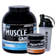 Gxn Advance Muscle Grow 6 Lb ( 2.27Kgs ) Butterscotch + Gxn Hyper Shot 300g