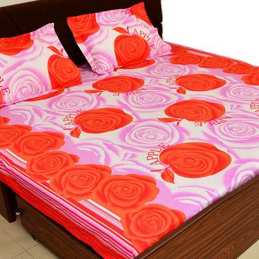 Korean 3 Designer Printed Double Bed Sheets   9 Pillow Covers   Jaipuri  Quilt. Buy Korean 3 Designer Printed Double Bed Sheets   9 Pillow Covers