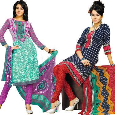 Karishma Set of 5 Ethnic Printed Dress Material (5P3) - AKSO