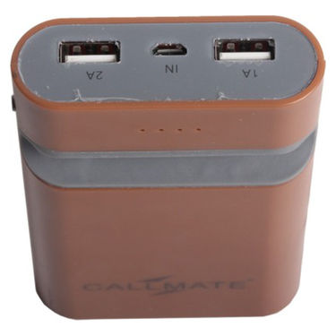 Callmate Power Bank Mobile Holder 7800 mAh - Brown