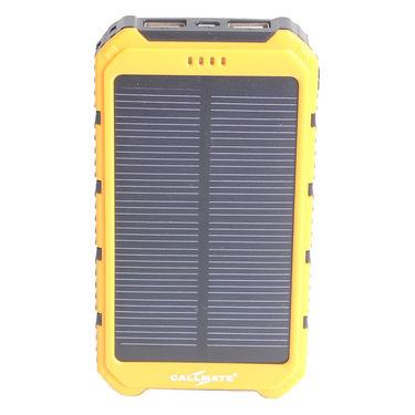 Callmate Power Bank Solar 12000 mAh - Yellow