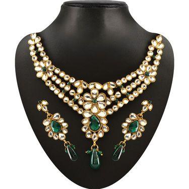Kriaa Combo of 4 Jewellery Set With Free Brooch And Earrings And Kada