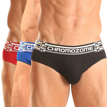Pack of 3 Chromozome Regular Fit Briefs For Men_10088 - Multicolor