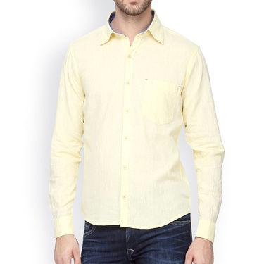 Crosscreek Full Sleeves Cotton Casual Shirt_1180315 - Yellow