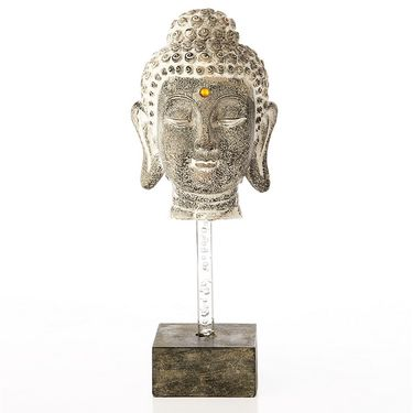 Budha Head on Square pedestal-1203-07009