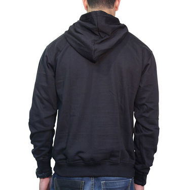 Effit Printed Regular Fit Full Sleeves Cotton Hoddies for Men - Black_PTLHODY0009
