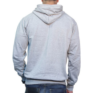 Effit Printed Regular Fit Full Sleeves Cotton Hoddies for Men - Grey_PTLHODY0058