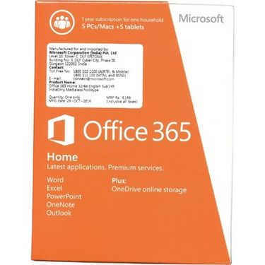 microsoft office 365 5 pc mac 5 tablet premium. Black Bedroom Furniture Sets. Home Design Ideas