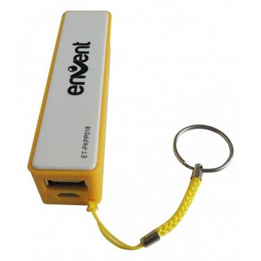 Envent EnergyBar 2600 mAh Powerbank with Keyring - Yellow