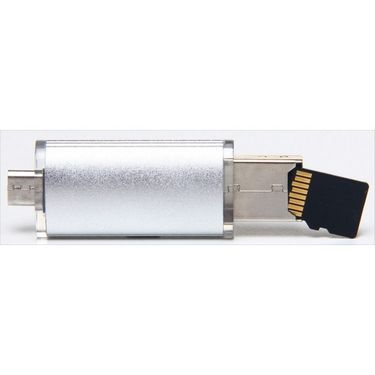 Flashmob Usb Dongle For Micro Sd Card Expandable Memory Upto 32 Gb - Silver