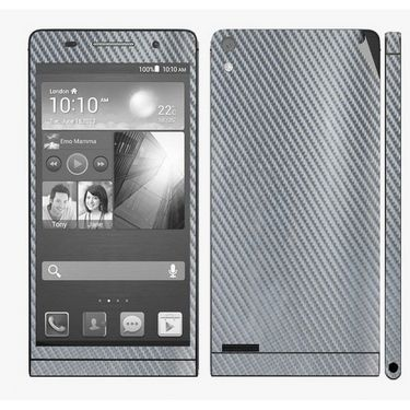 Snooky Mobile Skin Sticker For Huawei Ascend P6 - Silver