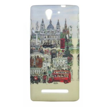 Snooky Designer Soft Back Case Cover For Sony Xperia C3 - Multicolour