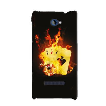 Snooky 19776 Digital Print Hard Back Case Cover For Htc 8s A620e - Black