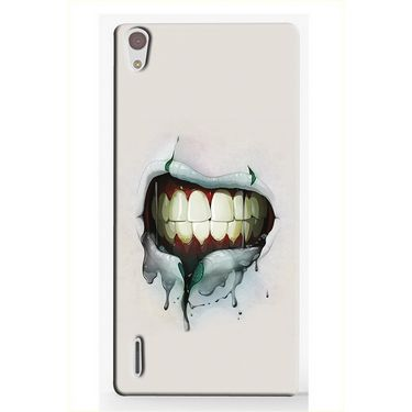 Snooky 19859 Digital Print Hard Back Case Cover For Huawei Ascend P7 - Cream