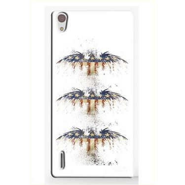 Snooky 19860 Digital Print Hard Back Case Cover For Huawei Ascend P7 - White