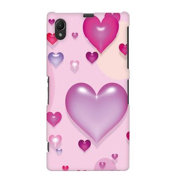 Snooky 19677 Digital Print Hard Back Case Cover For Sony Xperia Z1 L39h - Pink