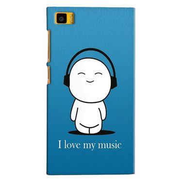 Snooky 20060 Digital Print Hard Back Case Cover For Xiaomi Mi3 - Blue