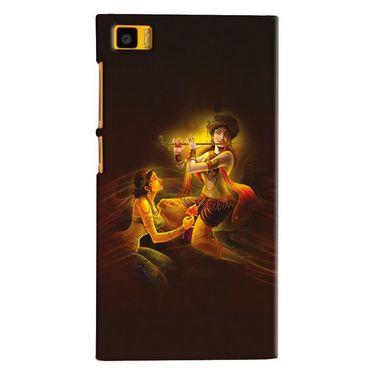 Snooky 20070 Digital Print Hard Back Case Cover For Xiaomi Mi3 - Brown