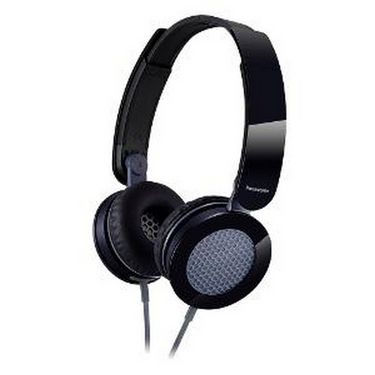 Panasonic RP-HXS200E-K Stylish Stereo Headphone with Compact Folding Mechanism - Black