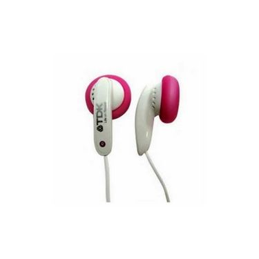 TDK Ear Buds with Solf Silicone Sleeves  E120 - Pink