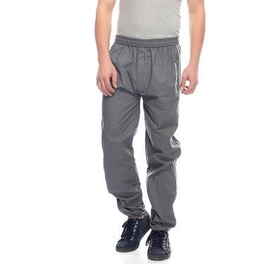 Delhi Seven Cotton Plain Trackpant For Men_Mutpm034 - Grey