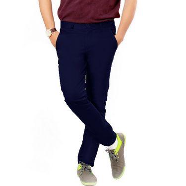 Uber Urban Regular Fit Cotton Chinos For Men_70051731435Rbl - Dark Blue