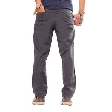 Uber Urban Regular Fit Cotton Trouser For Men_1301504Chr - Grey