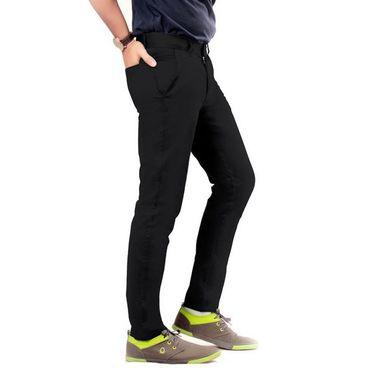 Uber Urban Regular Fit Cotton Chinos For Men_7001435Blk - Black