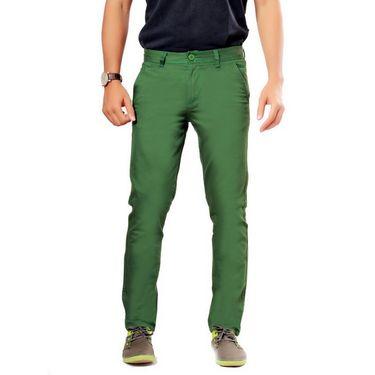 Uber Urban Regular Fit Cotton Chinos For Men_1435Gr - Green