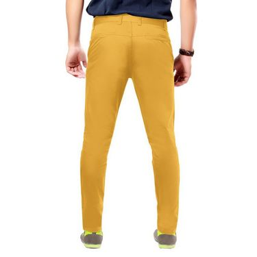 Uber Urban Regular Fit Cotton Chinos For Men_1435Mst - Yellow