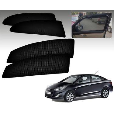 Set of 4 Premium Magnetic Car Sun Shades for HyundaiVernaFluidic
