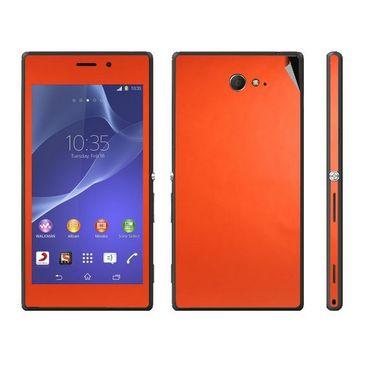 Snooky Mobile Skin Sticker For Sony Xperia M2 Dual 20819 - Orange