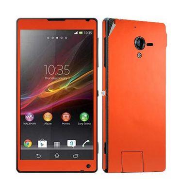 Snooky Mobile Skin Sticker For Sony Xperia Zl L35h C6502 20851 - Orange