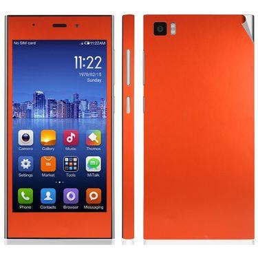 Snooky Mobile Skin Sticker For Xiaomi Mi3 20722 - Orange