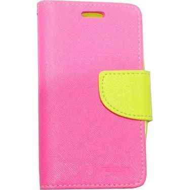 BMS lifestyle Mercury Wallet Flip Book Case Cover for Xiaomi MI-3 - Pink