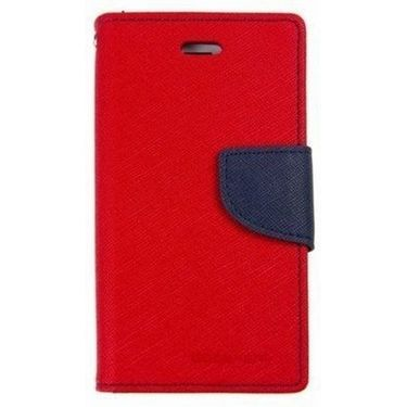 BMS lifestyle Mercury flip cover for Micromax A093 Canvas - Red