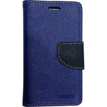 BMS lifestyle Mercury Wallet Flip Book Case Cover for iPad mini - Dark Blue