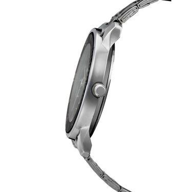 Dezine Round Dial Metal Wrist Watch For Men_056blkch - Black