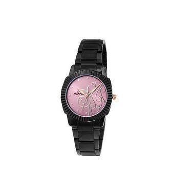Dezine Round Dial Metal Wrist Watch For Women_0400prpbch - Purple