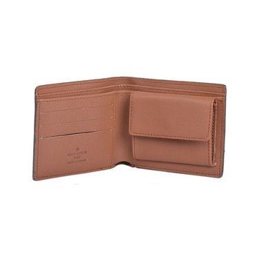 Branded Leather Wallet For Men_lv1brn - Brown