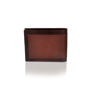 Branded Leather Wallet For Men_fossil001 - Brown